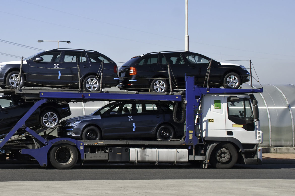 transportation of new cars by truck